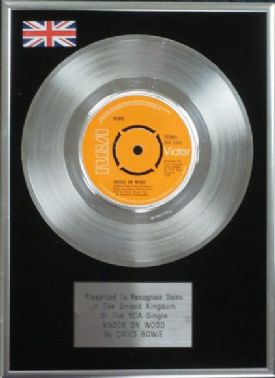 "David Bowie - 7"" Platinum Disc - Knock on Wood"